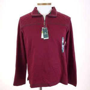 G.H.BASS & C. Men's 1/4 Zip Long Sleeve Sweater